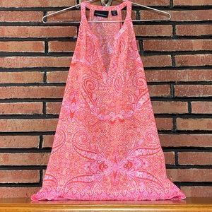 Cynthia Rowley Sleeveless Paisley Pink Blouse SZ-M